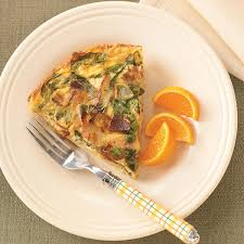 spinach u0026 bacon hash brown quiche recipe taste of home