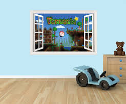 terraria 3d effect graphic wall vinyl sticker decal details 3d effect wall sticker vinyl