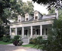 white house with metal roof exterior traditional with front porch