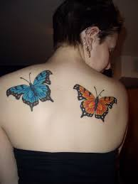 butterfly on back neck in 2017 photo pictures
