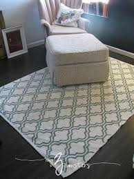 Painted Rug Stencils Best 25 Paint Rug Ideas On Pinterest Painting Rugs Paint A Rug