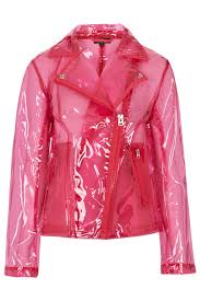 clear waterproof cycling jacket pink clear plastic jacket topshop looks like it was crafted out