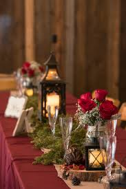 Burgundy Wedding Centerpieces by Regal Fall Wedding In Montana Vintage Lanterns Rustic Chic And