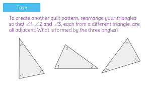 Adjacent Interior Angles Determine That The Sum Of The Interior Angles Of A Triangle Is 180