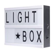 house number light box a5 size led cinema light box diy cinematic lightbox with 96 letters