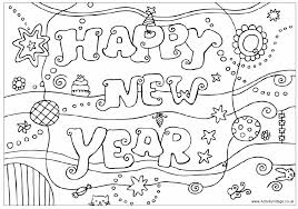 happy new year preschool coloring pages happy new year design colouring page kinder christmas pinterest