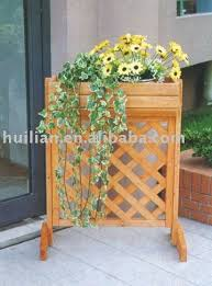 Wooden Planter With Trellis Hl095 Wooden Planter W Trellis With Stands Buy Wooden Garden