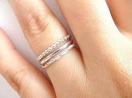 rings silver bands images Stack rings silver sterling silver ring handmade silver stacking jpg