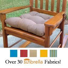 Sunbrella Patio Furniture Cushions Sunbrella Fabric Rocking Chair Seat Cushion