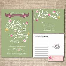 what does rsvp mean in english on an invitation floral wedding invitations green and pink vintage feel