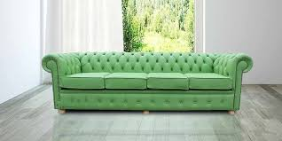 Buy Apple Green Leather Chesterfield Sofa UK  Seater - 4 seat leather sofa