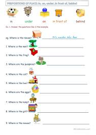 tom u0027s diner prepositions practice worksheet free esl printable