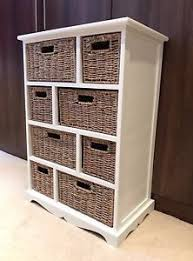 Bathroom Storage Unit Brown Wicker Rattan Chest Of Drawers Furniture White Bathroom