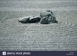 Japanese Rock Gardens Pictures by Japanese Rock Garden With Raked Gravel And Rocks Stock Photo