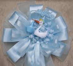 baby shower ribbon it s a boy large baby shower door bow