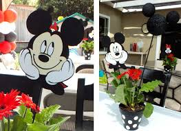 mickey mouse centerpieces mickey and minnie centerpieces two