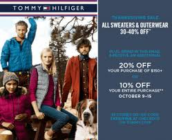 hilfiger canada thanksgiving sale and coupon save 30 40