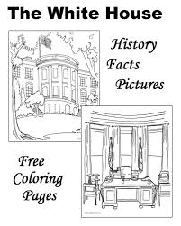 white house history facts pictures coloring pages