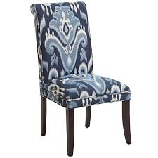 Pier 1 Ronan by Angela Indigo Ikat Dining Chair With Espresso Wood Pier 1 Imports