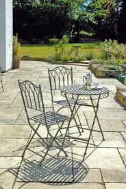 Outdoor Bistro Chairs Uk Gardens Ornate Grey Metal 3 Piece Folding Garden Bistro Set
