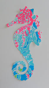 new made to order seahorse silhouette pillow made with your choice