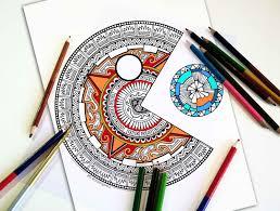 coloring pages pacman pac man dala mandala coloring