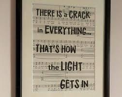 Common The Light Lyrics Sheet Music Print Etsy