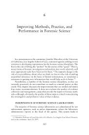 6 improving methods practice and performance in forensic science