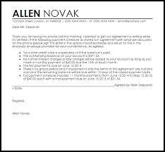 payment arrangement agreement letter agreement letters livecareer