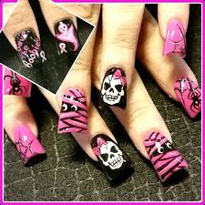 best halloween nail designs pink lover