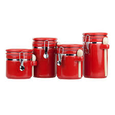 home basics 4 piece canister set cs44155 the home depot