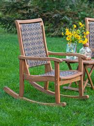 resin wicker u0026 eucalyptus rocking chair gardeners com