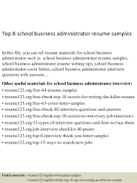 Entry Level Business Administration Resume Top 8 Business Administrator Resume Samples 1 638 Jpg Cb U003d1432891840