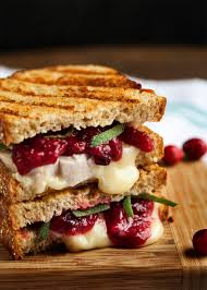 thanksgiving finger food turkey brie and cranberry mustard panini recipe cranberry