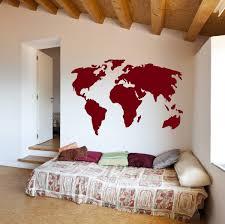 world map vinyl wall art sticker earth home decor removable world map vinyl wall art sticker earth home decor removable sticker easy to apply