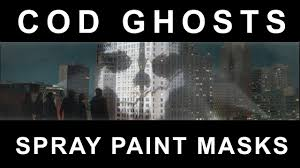 ghost mask army cod ghosts mask spray paint youtube