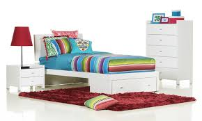 Rimini White King Single High Gloss Kids Bed Bedshed - Kids bedroom packages