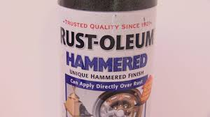 rustoleum hammered finish paint on plastic test youtube