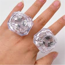 toy finger rings images Ideas of novelty diamond rings 30pcs lot led glowing huge diamond jpg