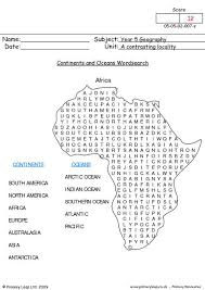 all worksheets continents and oceans worksheets printable
