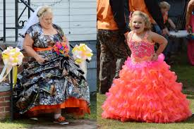 the bride wore camouflage print tulle scenes from the honey boo