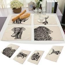 napperon de cuisine 42x32 cm table à manger napperon cuisine outil coton linge