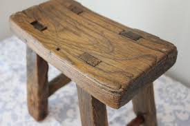 reclaimed wood stool wb designs
