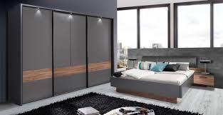 Schlafzimmer Komplett Schwebet Enschrank Schlafzimmer Komplett Grau Sangallo Eiche 180x200cm Neu