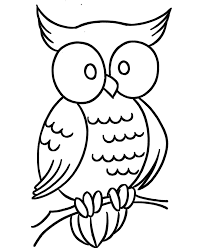 outline owl kids coloring
