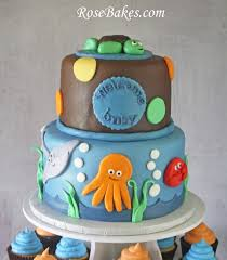 under the sea baby shower cake u0026 cupcake tower