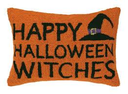 peking handicraft happy halloween witches wool lumbar pillow