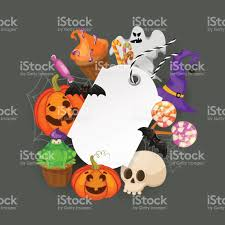 halloween gift tags with autumn tree bats candy spider pumpkins