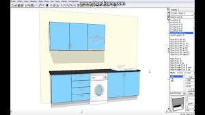 cuisine avec lave linge comment dessiner une cuisine 3d avec lave linge en kitchendraw