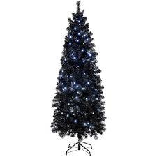 werchristmas pre lit slim black christmas tree 1 8 m 6 feet